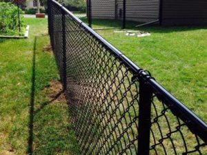 Black Backyard Chain Link Fence Toronto