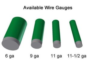 Green Chain Link Fence Wire Gauge