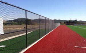 School Black Chain Link Fence