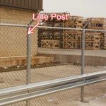 Commercial Chain fence post