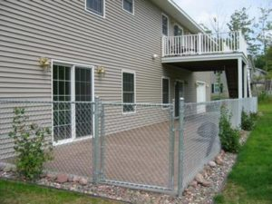 Galvanized Residential Chain Link Fence Fabric