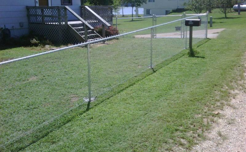 Galvanized Yard Chain Link Fence