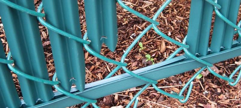Green Chain Link Fence Slats Installation Toronto