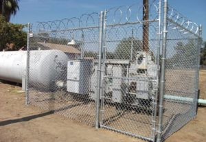 Security Chain Link Fence Industrial